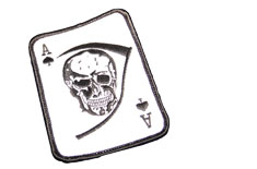 Death Card White Skull Patch