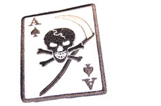 Death Card Black Skull Patch